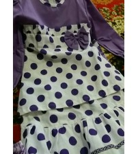 baju busana ungu putih