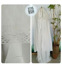 mukena cantik putih motif